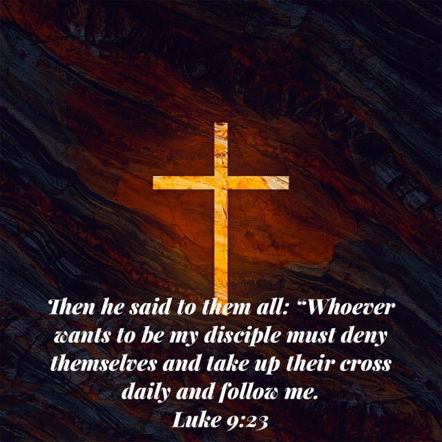 Luke 9:23 tells us that discipleship REQUIRES we take up our crosses and follow Christ.  We cannot lay them down until we take them up, wrestle with them and let God help heal us from their wounds.