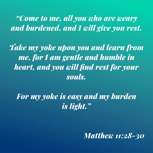 Matt 11:28-30 tells us that Christ's burden is light and invites us to lay our heavy burdens upon Him.  God can handle our sorrows, weariness and pain!