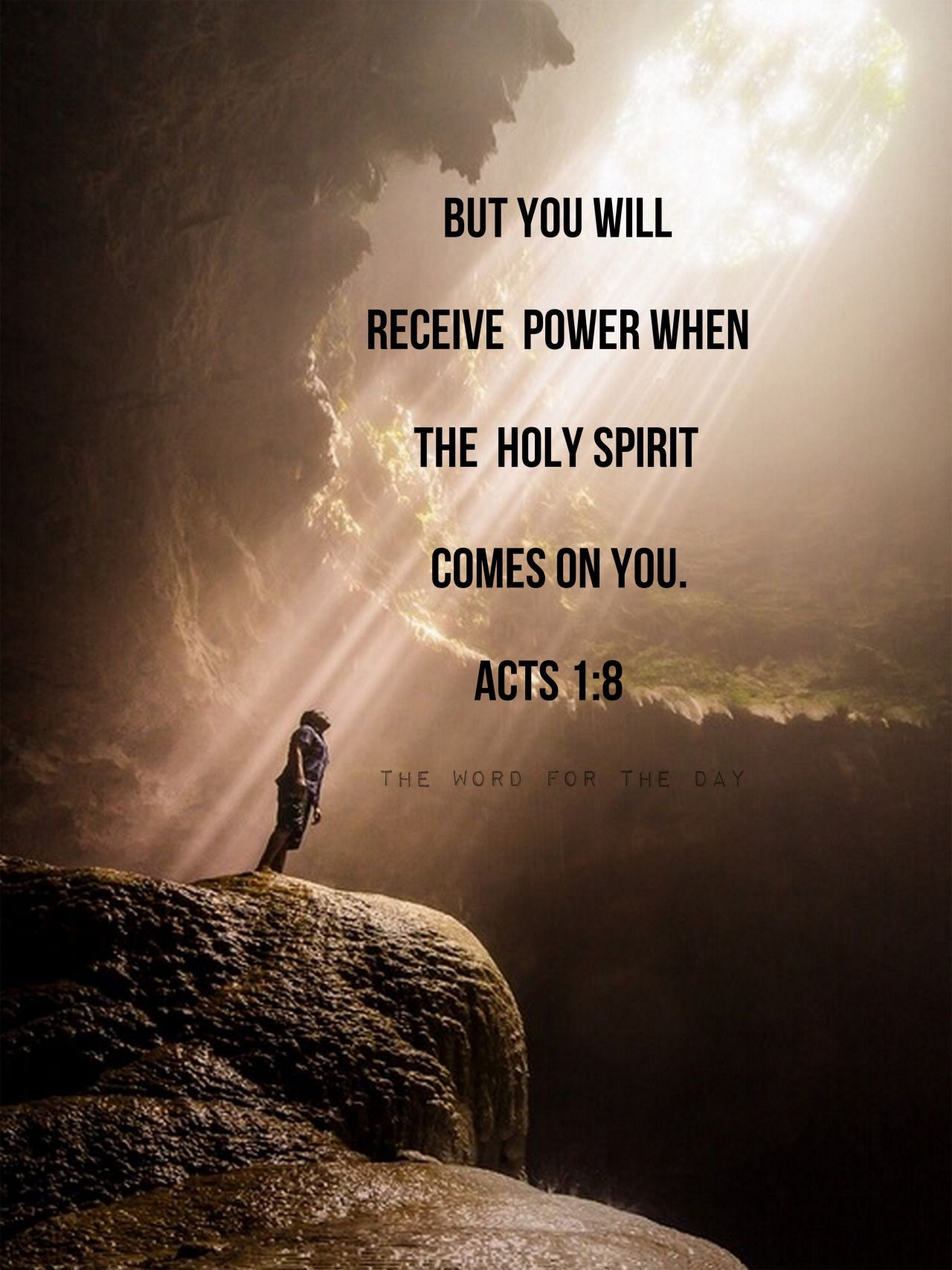 In Acts 1:8, Jesus promises to send the Holy Spirit upon his gather disciples so that they in return can speak far and wide of the grace of God and salvation.