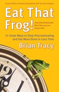 Eat That Frog is a book, which has helped me fight my procrastination tendencies. I'm not good at procrastinating, and hate that I've developed that habit lately.