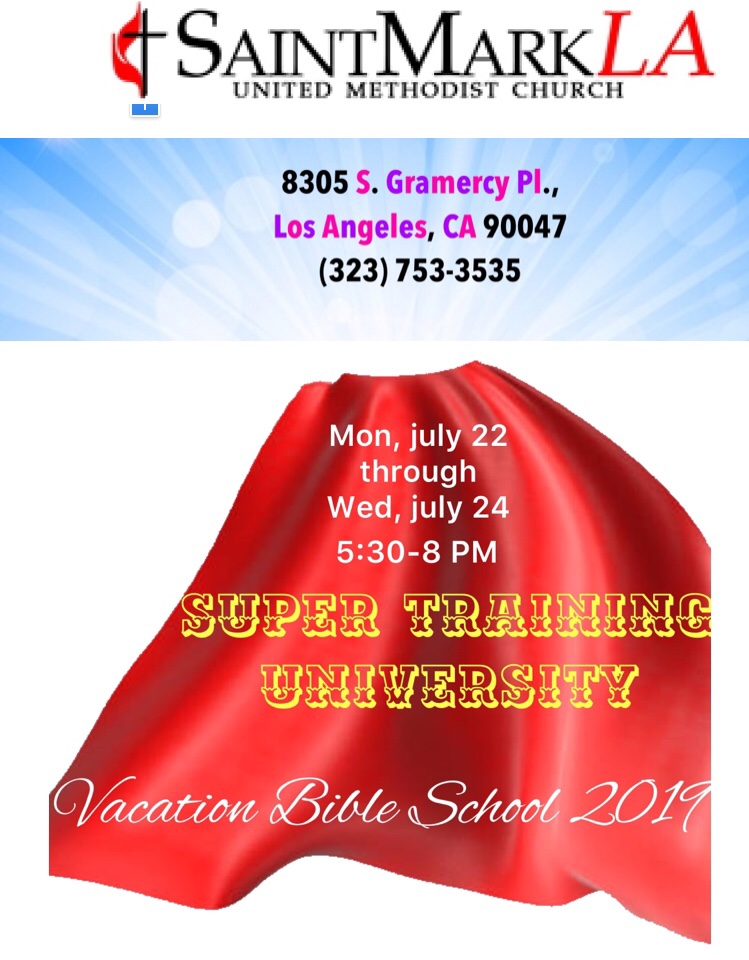 Super Training University Vacation Bible School Poster