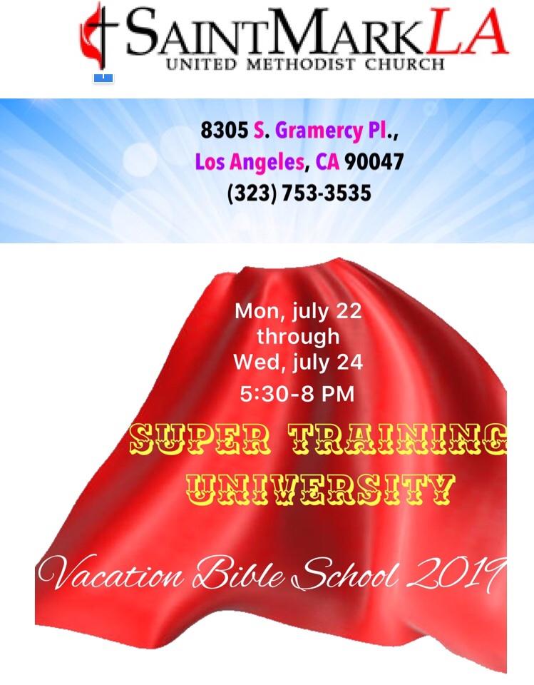 Super Training University Vacation Bible School Poster