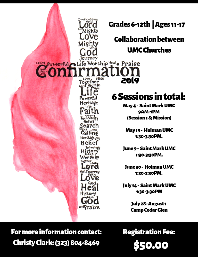 Confirmation Experience 2019 Flyer